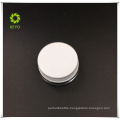 wholesale 5g empty cream use clear cosmetic glass jar with white aluminium cap