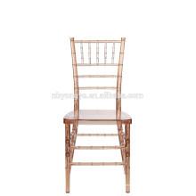 Résine de mariage transparente transparente Tiffany Chiavari Banquet Wedding Chair
