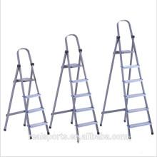 Escada de etapa larga de alumínio portátil de dobramento delicada da escada interna do agregado familiar