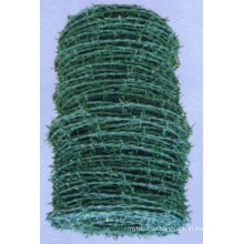 Green PVC Coated Barbed Wire Cross PVC Coating