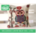 hot sell cute owl printing 45cm*45cm square linen pillow