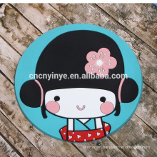 2015 new design soft PVC coaster, lovely cartoon pvc coaster rubber beer coaster