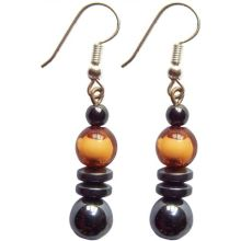 Hematite Earring With 925 Peru Silver Hook
