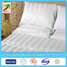 Wholesale hotel use white satin stripe fabrics