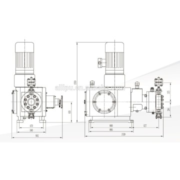 Chemical Hydraulic Double Diaphragm Dosing Pump