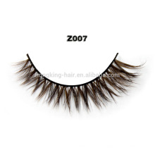 100% Real sable mink, Dark Brown Mink Fur Eyelash