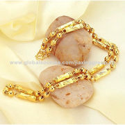 Gold-plated Jewelry Chain, Made of Resin, Glass and Metal, Various Sizes and Colors Available