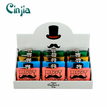 fashion Father′s Day Mustache Series Hip Flask Set