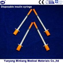 Seringues d'insuline jetables de seringues d'insuline de 1cc 1cc seringues d'insuline de 0.3cc (ENK-YDS-050)
