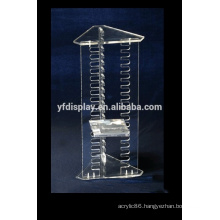 clear acrylic decorative horizontal CD display stand rack