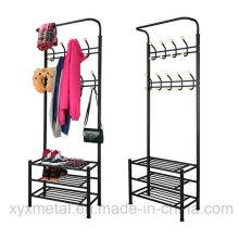 Metallschuh-Rack-Beutel-Kleidung-Kleid-Standplatz-Mantel-Zahnstange
