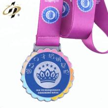Atacado personalizado medalhas de cor de esmalte de metal para crianças