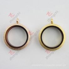 Розовое золото Золотая плоская круглая плавающая ободка (FL)