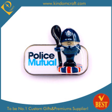 Stainless Steel Police Badge with Epoxy Made in China