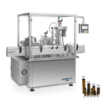 Automatic double head 30-40ml medical glass small bottle serum filling and sealing machine