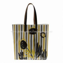 Shopping Bag, Made of Artificial Leather 100%, OEM Orders are Accepted