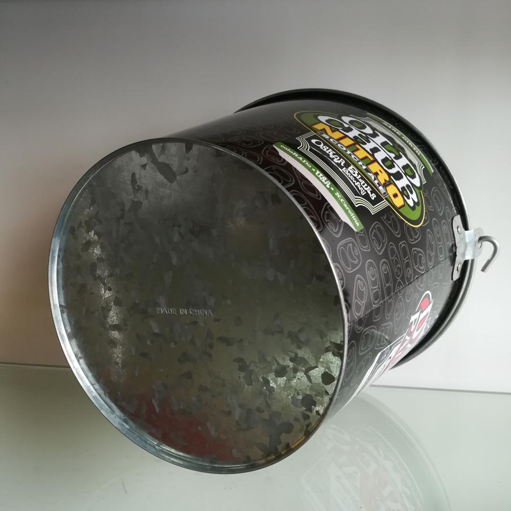Special Handle Round Tin Ice Bucket