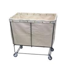 carrinho de roupa quadrado mais quente com grande cesto