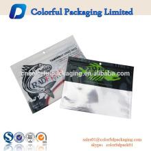 bolsas de cebo de plástico suave logotipo personalizado para gusano de pesca con ziplock resellable