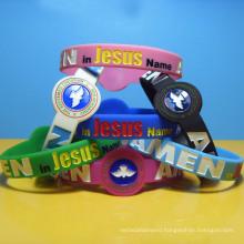 Personalized Shape Silicone Bracelets Armbands Custom Logo Debossed Ink Filled Watch Shaped Silicone Wristbands