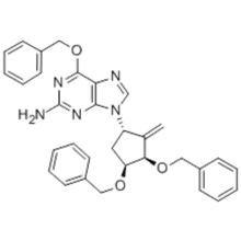 6-(Benzyloxy)-9-[(1S,3R,4S)-2-methylene-4-(phenylmethoxy)-3-[(phenylmethoxy)methyl]cyclopentyl]-9H-purine-2-amine CAS 204845-95-4
