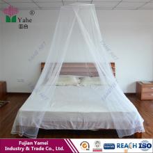 Moustiquaire à pendaison conique pour lit double coloré