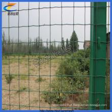 Revestimento revestido verde do PVC 70X150mm cercado