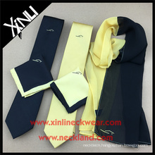 Men Silk Digital Print Wholesale Custom Ties with Matching Women Scarf