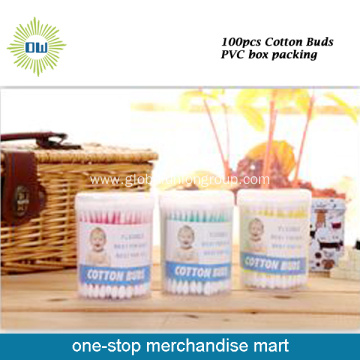 Hot Sale 100pcs Plastic Stick Cotton Buds