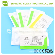 surgical nylon sutures CE ISO made in China for hospital