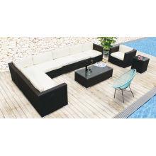 Nuevo modelo de sofá de ocio de jardín de mimbre de ratán de jardín al aire libre