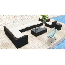 Nouveau modèle de patio extérieur en rotin en osier Ensemble de canapé de jardin