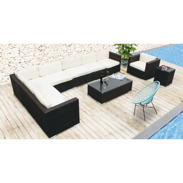 Novo modelo de pátio ao ar livre Rattan Wicker Garden Leisure Sofa Set