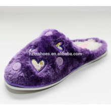 2015 decorative button novelty women cotton bedroom slipper winter with love