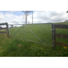 Portão de fazenda de aço galvanizado a quente com 1 metro de altura 8FT / 10FT / 12FT largo econômico