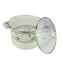 olla de cocción a vapor de esmalte chino personalizado