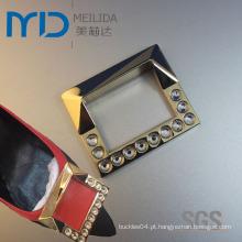 Fivelas de metal com diamante falso para mulheres