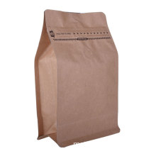 OEM Block Wholesale Biodegradable Food Packaging Manufacturer Plastic Bottom Coffee Bags with Valve