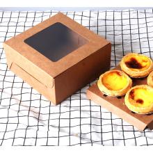 Kraftpapier Cup Cake Egg Tart Food Box Verpackung mit Fenster