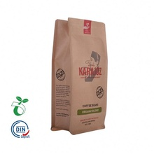 Bolsa de papel kraft biodegradable reciclable de fondo plano