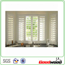 89mm Pure White Plantations Shutters (SGD-S-7447)
