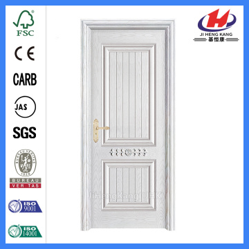 Jhk-017-Cs White Oak Wood 2 Panel  Solid Wooden Door
