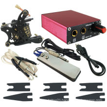 PS104006 Red Tattoo Power Supply w/ 1x Clip Cord and Flat Foot Pedal