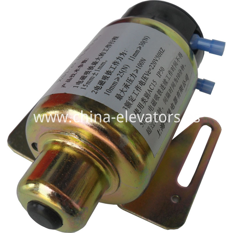 Electromegnetic Solenoid for MRL Elevator Overspeed Governors XS1-25