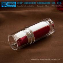 Botella de acrílico redondo vacío de doble cámara de diseño especial de YB-W20 20ml (10 ml x 2)