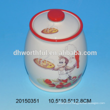 Ceramic seasoning pot in monkey shape for kitchen
