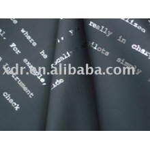 printed poly suede fabric for ladies' garment & clothes