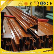 Profil en aluminium anodisé adapté aux besoins du client d'extrusion de revêtement de poudre
