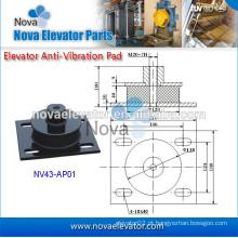Componente do elevador, carga máxima 6000kg, dureza 65-75, almofada anti-vibração para a máquina da tração