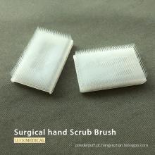 Escova de unha de plástico esfoliante para uso cirúrgico